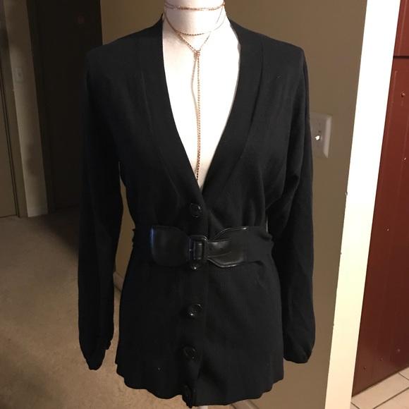 MICHAEL Michael Kors Sweaters - MICHAEL Michael Kors Black Belted Cardigan a41ea7fb4